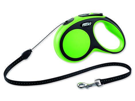 Vodítko FLEXI New Comfort lanko zelené 5 m S