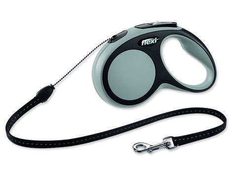 Vodítko FLEXI New Comfort lanko šedé 5 m S