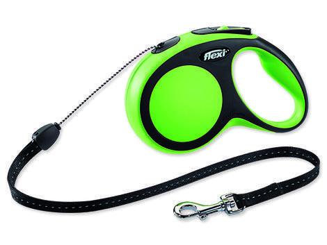 Vodítko FLEXI New Comfort lanko zelené 8 m S