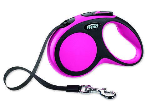 Vodítko FLEXI New Comfort páska růžové  S