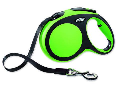 Vodítko FLEXI New Comfort páska zelené 5 m L