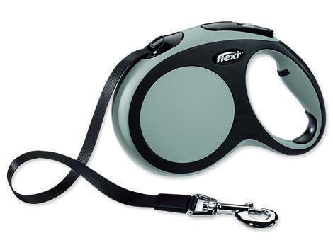 Vodítko FLEXI New Comfort páska šedé 5 m L