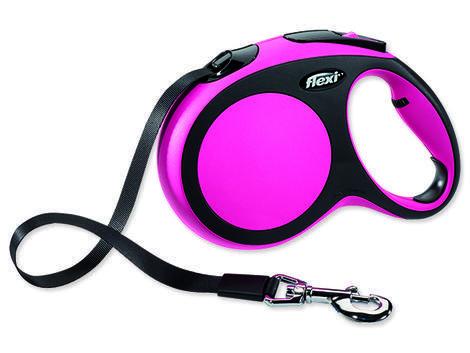 Vodítko FLEXI New Comfort páska růžové 5 m L