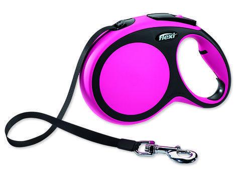 Vodítko FLEXI New Comfort páska růžové 8 m L