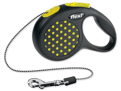 Vodítko FLEXI Design lanko žluté  XS