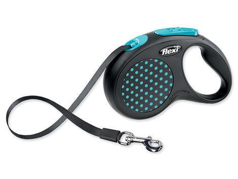 Vodítko FLEXI Design páska modré  S
