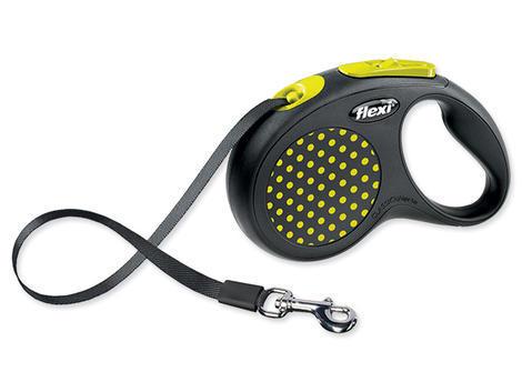 Vodítko FLEXI Design páska žluté  S