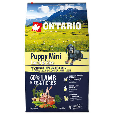 ONTARIO Puppy Mini Lamb & Rice  - 1