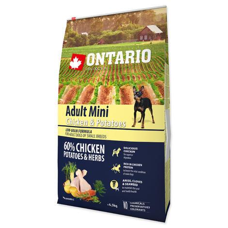 ONTARIO Adult Mini Chicken & Potatoes & Herbs 6,5kg