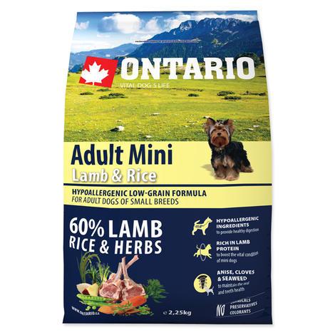 ONTARIO Adult Mini Lamb & Rice 2,25kg 2,25kg