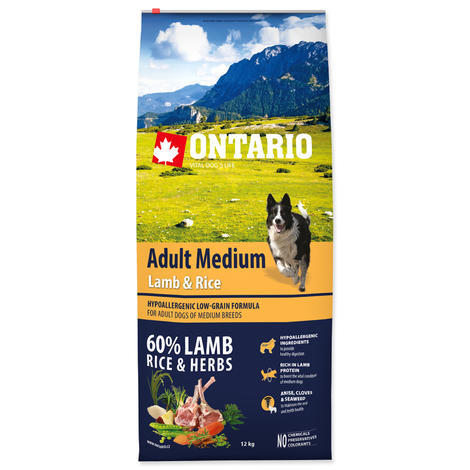 ONTARIO Adult Medium Lamb & Rice  - 1