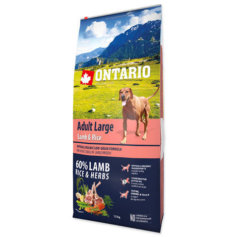 ONTARIO Adult Large Lamb & Rice & Turkey