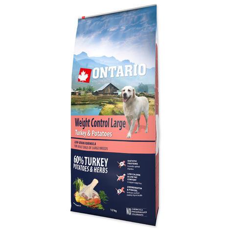 ONTARIO Large Weight Control Turkey & Potatoes & Herbs 12kg