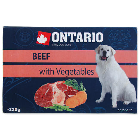 ONTARIO vanička Beef with vegetable 320g