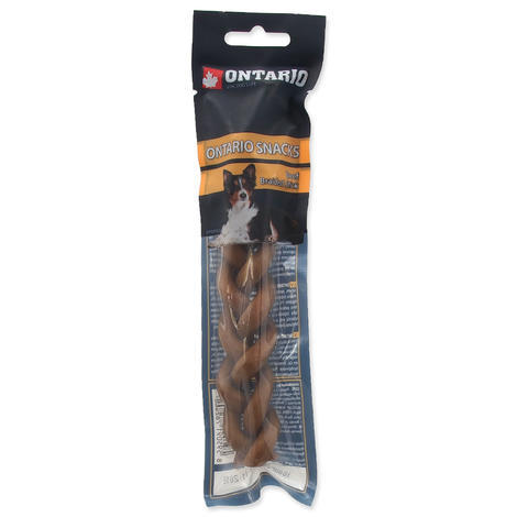 ONTARIO Rawhide Snack Braided Stick 15 cm 1ks