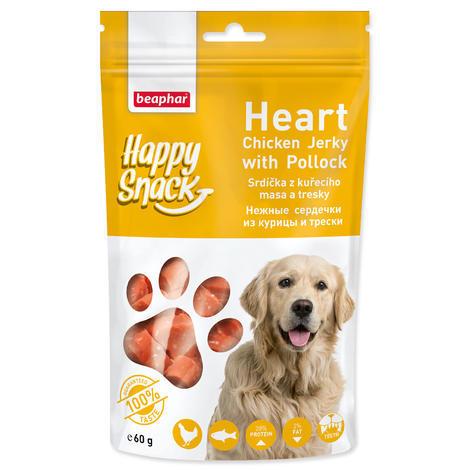 Pochoutka BEAPHAR Happy Snack Dog srdíčka z kuřecího masa a tresky 60g