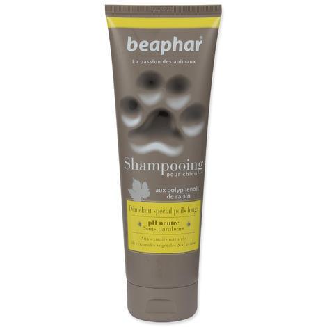 BEAPHAR Shampooing proti zacuchání 2v1 je určený pro psy s polodlouhou a dlouhou srstí jako je například jorkšírský terriér, dlouhosrstá čivava, maltézský psík, kokršpaněl, zlatý retrívr 200 ml