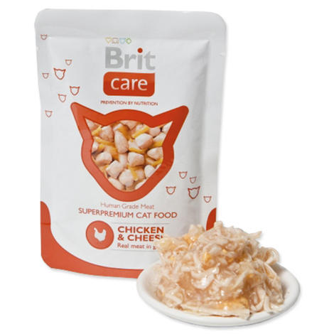 Kapsička BRIT Care Cat Pouches Chicken & Cheese 80g