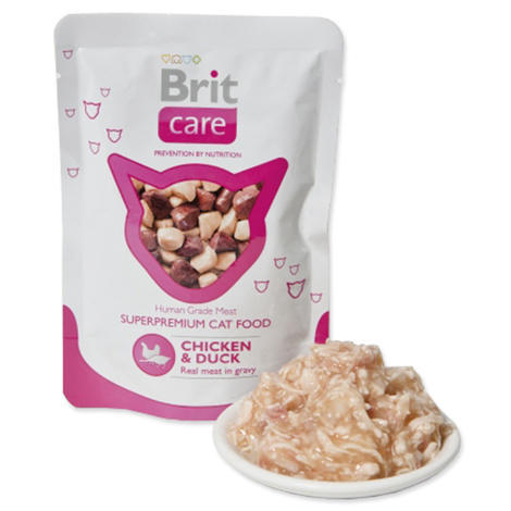 Kapsička BRIT Care Cat Pouches Chicken & Duck 80g
