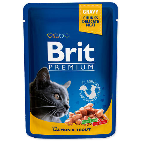 BRIT Premium Cat Salmon & Trout kapsička 100g