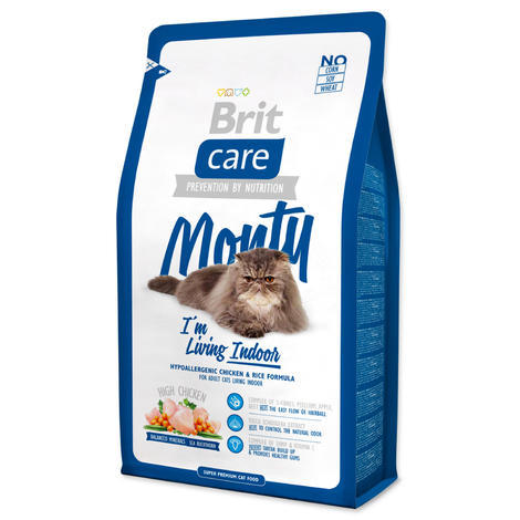 Granule BRIT Care Cat Monty I`m Living Indoor 7kg