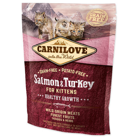 CARNILOVE Salmon and Turkey kittens Healthy Growth 400g