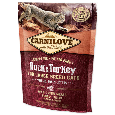 CARNILOVE Duck and Turkey Large Breed cats – Muscles, Bones, Joints 400g