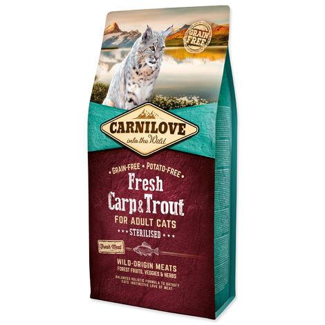 CARNILOVE Fresh Carp & Trout Sterilised for Adult cats 6kg
