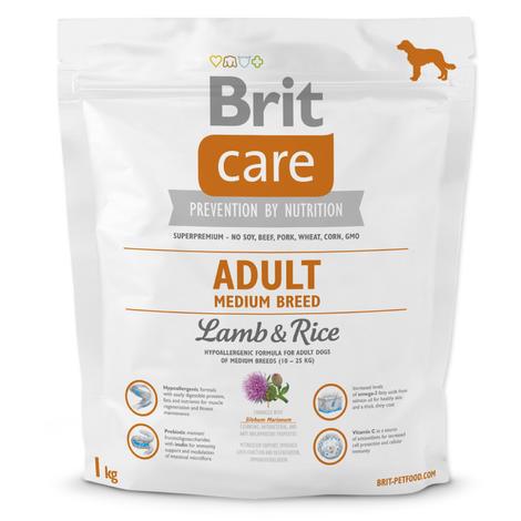 Granule BRIT Care Adult Medium Breed Lamb & Rice 1kg