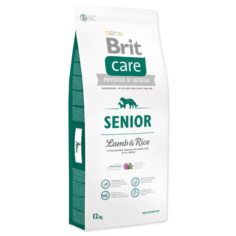 Granule Hypoalergenní krmivo Granule BRIT Care Senior All Breed Lamb & Rice - 1