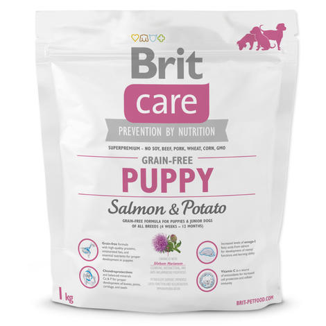 Granule BRIT Care Grain-Free Puppy Salmon & Potato 1kg