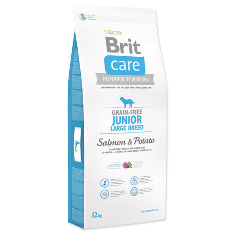 Granule BRIT Care Grain-Free Junior Large Breed Salmon & Potato 12kg