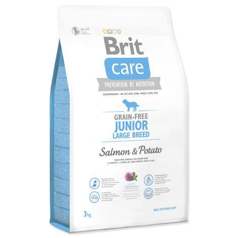 Granule BRIT Care Grain-Free Junior Large Breed Salmon & Potato 3kg