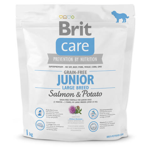 Granule BRIT Care Grain-Free Junior Large Breed Salmon & Potato 1kg