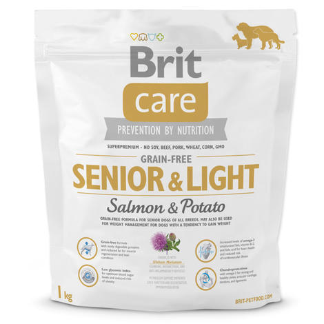 Granule BRIT Care Grain-Free Senior & Light Salmon & Potato 1kg