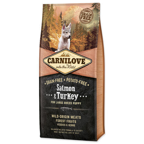 Granule CARNILOVE Salmon & Turkey for Large Breed Puppy
