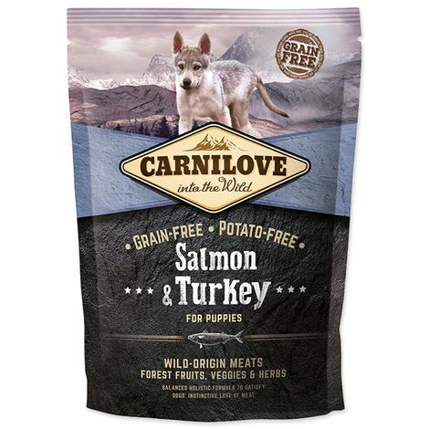 Granule CARNILOVE Salmon & Turkey for Puppies 1,5kg
