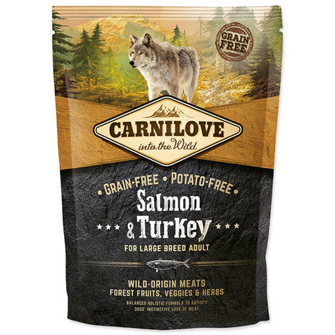 Granule CARNILOVE Salmon & Turkey for Large Breed Adult 1,5kg