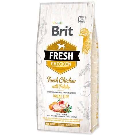 BRIT Fresh Chicken with Potato Adult Great Life - 1