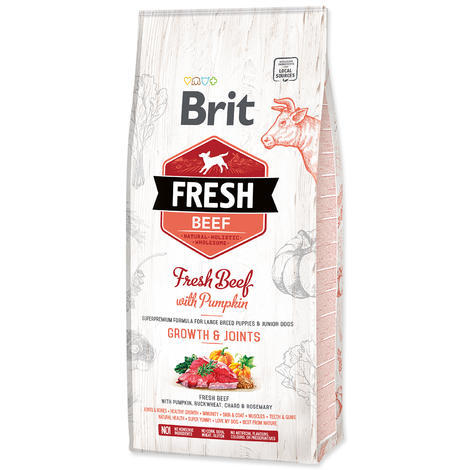 BRIT Fresh Beef with Pumpkin Puppy Large 12kg - 1