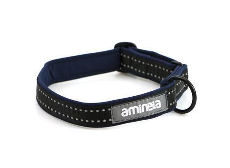 Aminela klasik obojek Sport & City 30-50cm, námořnická modrá/černá