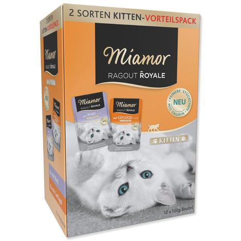 Kapsičky MIAMOR Ragout Royale Kitten multipack v želé 1200g