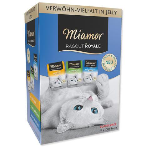 Kapsičky MIAMOR Ragout Royale multipack kuře, tuňák, králík v želé 1200g