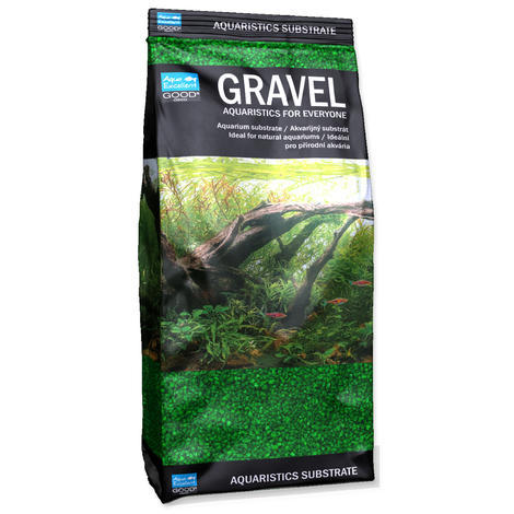 Písek AQUA EXCELLENT 1,6-2,2 mm zelený 1kg