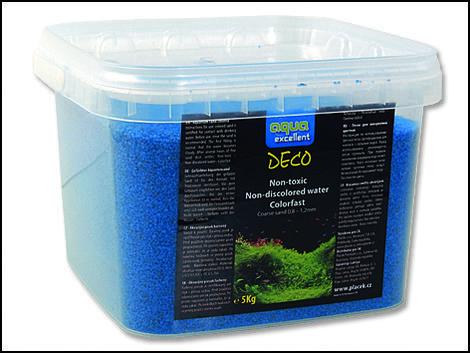 Písek AQUA EXCELENT světle modrý 5kg !! POUZE OSOBNÍ ODBĚR !!