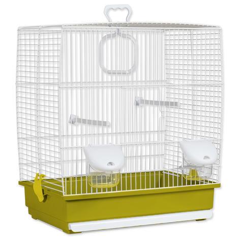 Klec BIRD JEWEL Klára bílo-zelená 39 x 25,5 x 45 cm