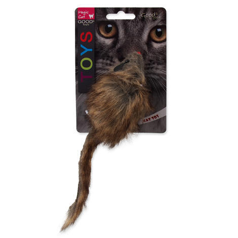 Hračka MAGIC CAT myš plyšová Gigant s catnipem 21 cm 1ks