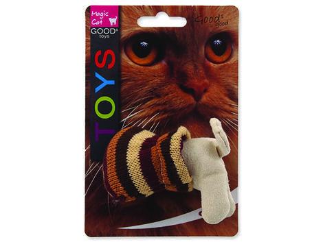 Hračka MAGIC CAT kočka v pytli s catnipem mix 9 cm 1ks