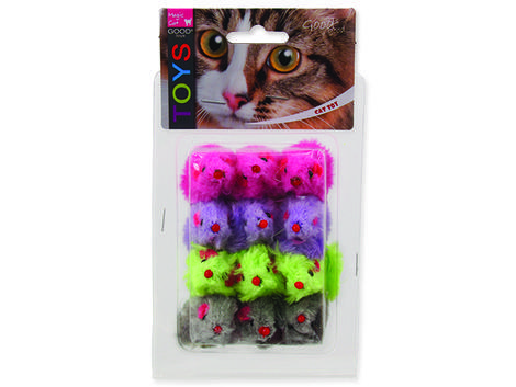 Hračka MAGIC CAT myšky plyšové s catnipem 11 cm 12ks