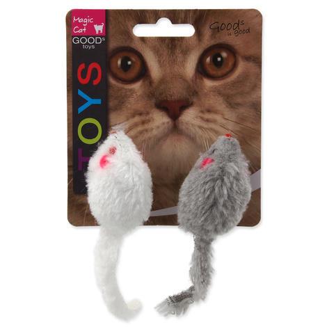 Hračka MAGIC CAT myšky chrastící s catnipem 11 cm 2ks